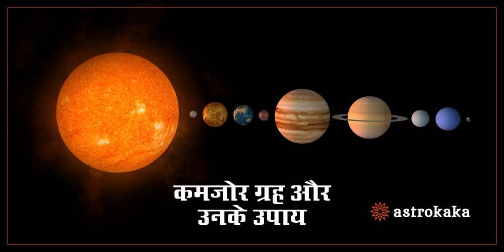 Kundali Mein Kamjor Grah Se Hone Wali Pareshaniya aur Unke Upay